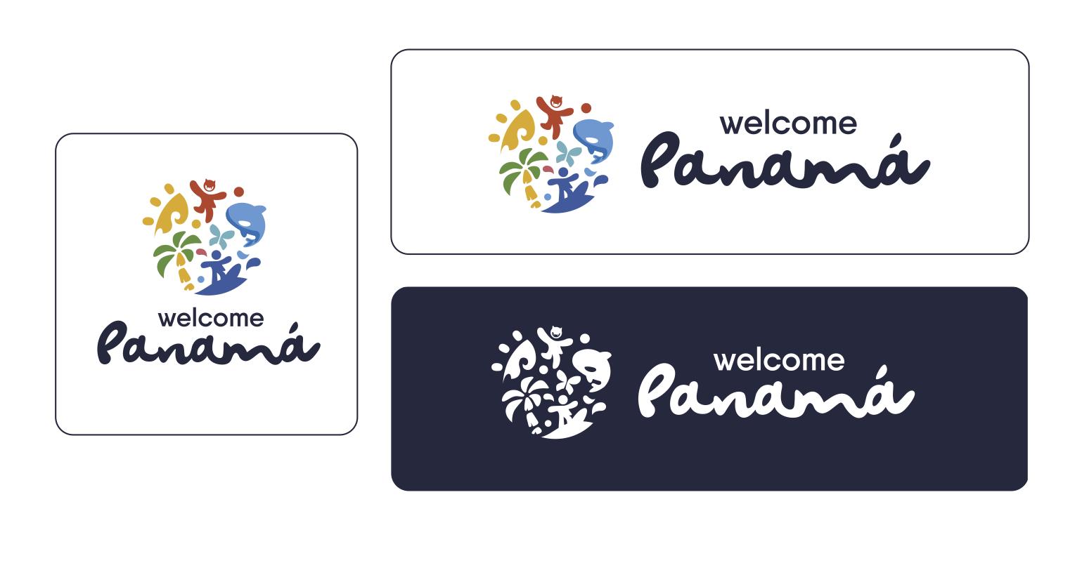 El logo, la identidad de Welcome Panamá